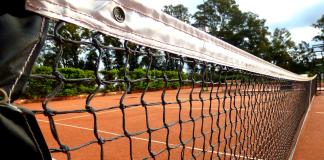 kort tenisowy, siatka